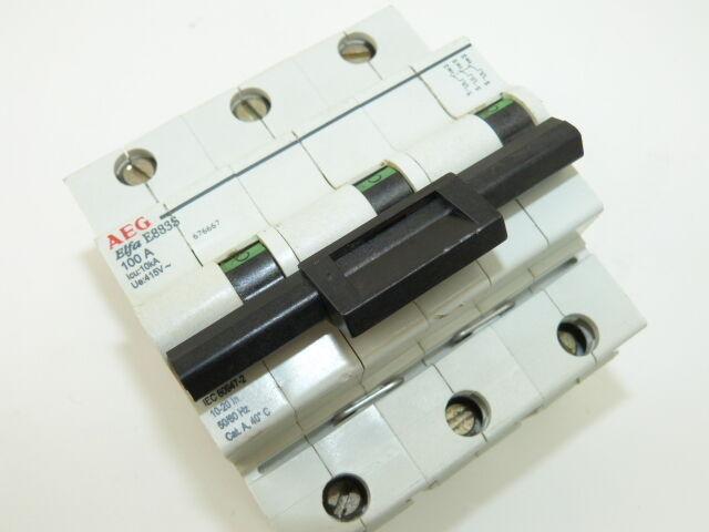 AEG ELFA E883S 3p 100a 415v Circuit Breaker Used