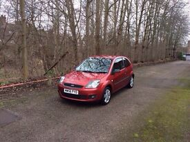 2007 Ford Fiesta Zetec cilmate red 1.2 full 12 month mot Expiers 7/2/2018
