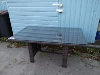 Synthetic Rattan Table. £80 Brand new unpacked and assembled only for photos.