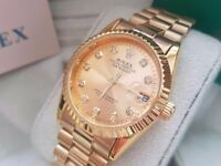 New Swiss Rolex Date Just Gold for sale!£35!