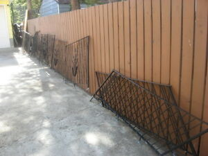 48 feet of metal deck railing- includes 2 handrails for stairs