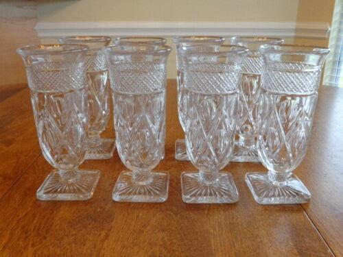 IMPERIAL GLASS CAPE COD PARFAIT GLASSES  LOT OF 8