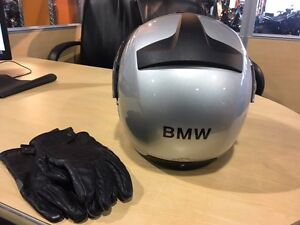 New BMW Modular Helmet and Leather Gloves for sale
