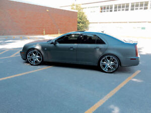 Cadillac STS Northstar, Navigation, custom exhaust rim & tire