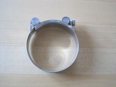 """Spannbackenschelle 3"""" aus Edelstahl 79-85mm in sehr guten Zustand"""