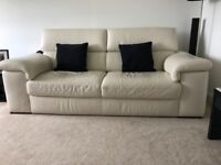 3 Seater Sofa in Cream Leather