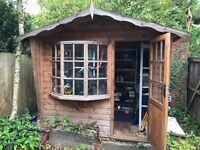 GARDEN SHED good condition 6ft wide x 8ft long with lovely bay window
