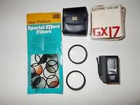 Four Hoya lenses: +1, +2, +4 and skylight 1B