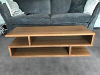 Designer walnut coffee table