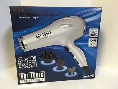 Hot Tools Turmalin Werkzeuge 2400 Lite Turbo Ionisch Haartrockner - Silbern - Hot Tools Haar