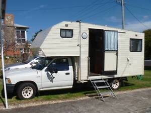 Toyota Hilux Motorhome 1990 model four beth for sale $27000 petol Devonport Devonport Area Preview