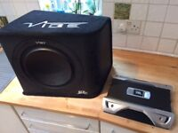 """Vibe 12"""" Sub , JBL Amp Combo, Car Audio, good condition, wiring not included"""