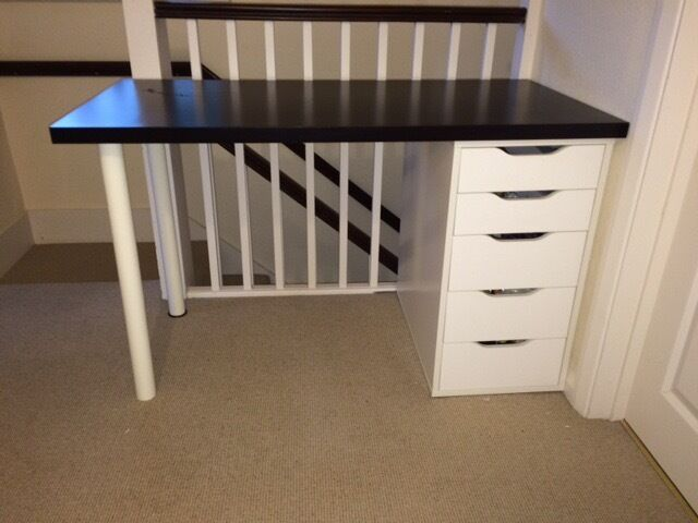 Ikea linnmon alex desk with adjustable swivel chair in potters bar