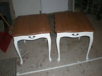 Two Good And Very Sturdy End Tables With Highly Durable Tops