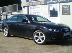 2008 AUDI A4 1.8 TSFI SE NEW MODEL{FSH},, ZERO DEPOSIT FOR FINANCE