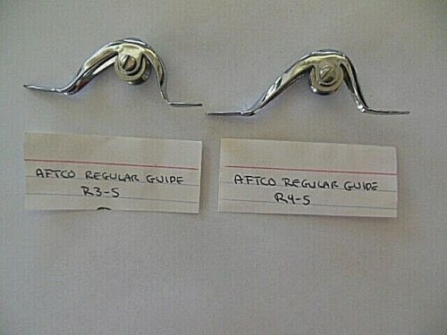 2 NEW AFTCO-R3-S & R 4-S-REGULAR ROLLER FISHING ROD GUIDES SILVER CHROME