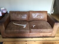 Large 2 seater leather sofa for sale - FREE