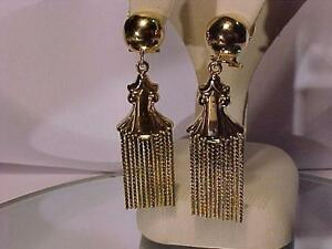 ANTIQUE (1930`S)18k Y/Gold-OMEGA BACK/STUD EARRINGS. Estate item-Just Stunning-They were clip-ons INSTALLED NEW POSTS.