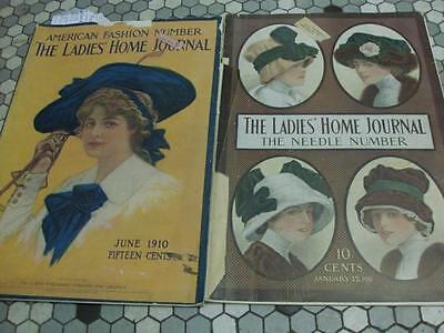 2 Vintage Ladies Home Journal Magazines - Jan 1911 & June 1910