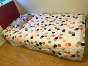 Single king futon BASE with futon MATTRESS, including quilt cover