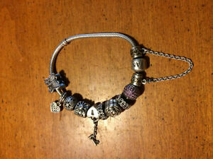 Pandora Braclet With 10 Charms