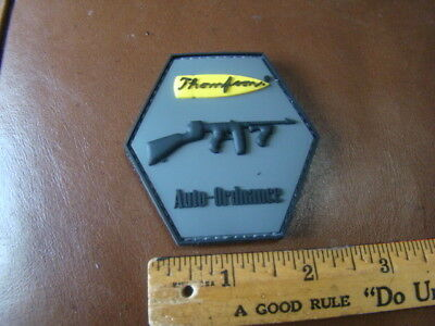 Thompson Auto-Ordinance Machine Gun Rubber Patch Auto Machine Gun
