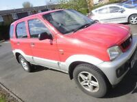 daihatsu terios for spares & repairs, drives perfect mot end of november. needs tidying hence price.