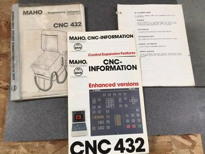 Maho Geometric Package Cnc 432 Programming Instructions Plus Two More Documents