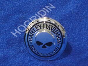 Harley softail touring  flhr willie g skull gas fuel tank cap cover medallion