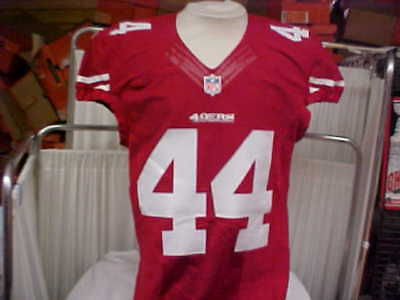 2014 NFL San Francisco 49ers Game Worn Team Issued Red Jersey Player  44 Size  42 215d7cfe1