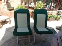 Green luxury padded outdoor seat covers