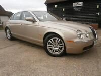 0454 JAGUAR S-TYPE 2.7D V6 TURBO DIESEL AUTOMATIC CHAMPAGNE MET & SAND LEATHER