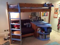 Great Little Trading Company cabin bed, with pull out desk and sofa bed