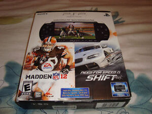 PSP 3000 MADDEN 12, NEED FOR SPEED SHIFT ENTERTAINMENT PACK