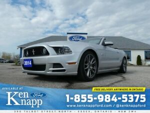 2014 Ford Mustang GT- CONVERTIBLE- LEATHER- NAV- HEATED SEATS- A