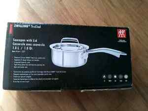 Zwilling TruClad 1.0L Saucepan with Lid Peterborough Peterborough Area image 1