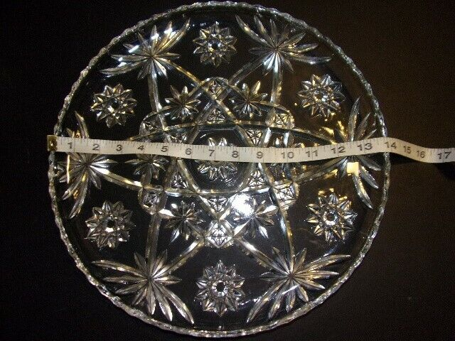 Early American Prescut EAPC Anchor Hocking Charger Plate Star of David