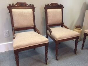 Set of 4 Antique Eastlake Chairs