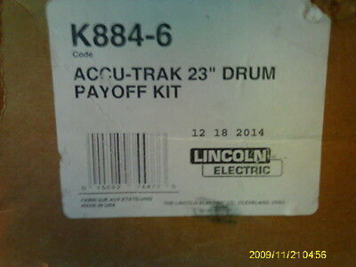 Lincoln Electric K884-6 23 Accu-trak Drum Payoff Kit Mig Wire Dispenser Top New