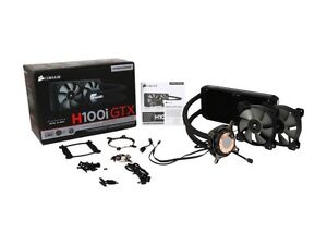 Corsair hydro series H100i GTX liquid cooler.