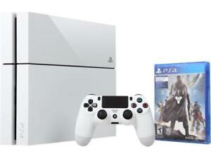 PS4 Destiny Limited Edition White with games