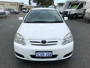 2005 Toyota Corolla ZZE122R Ascent Seca White 4 Speed Automatic Hatchback Erskine Mandurah Area Preview