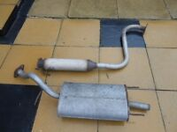 MG/ZR EXHAUST ...MIDDLE..&..BACK ..BOX..£15