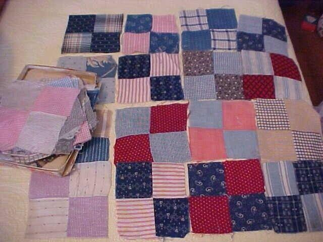 52 1880-1910 4-Patch Quilt Blocks
