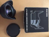 Richo GR GW-2 wide angle, GV-1 hood & adapter, GH-3 view finder