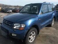 breaking blue mitsubishi shogun lwb 3.2 turbo diesel 4x4 auto parts spares