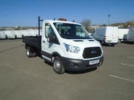 Ford Transit 350 L2 SINGLE CAB TIPPER 125PS EURO 5 DIESEL MANUAL WHITE (2015)