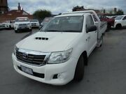 2013 Toyota Hilux KUN16R MY12 SR 4x2 White 5 Speed Manual Cab Chassis Ballarat Central Ballarat City Preview