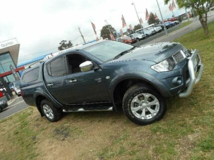2010 Mitsubishi Triton MN MY10 GLX-R (4x4) Grey 5 Speed Automatic 4x4 Double Cab Utility