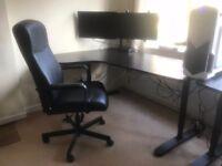 Corner Desk Left + Swivel Chair